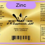 Zinc Liquid Minerals Dietary Regular Strength